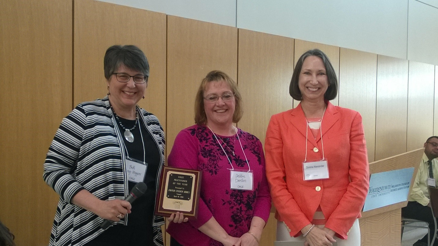 2016 Practitioner of the Year – Organization (United Church Homes)