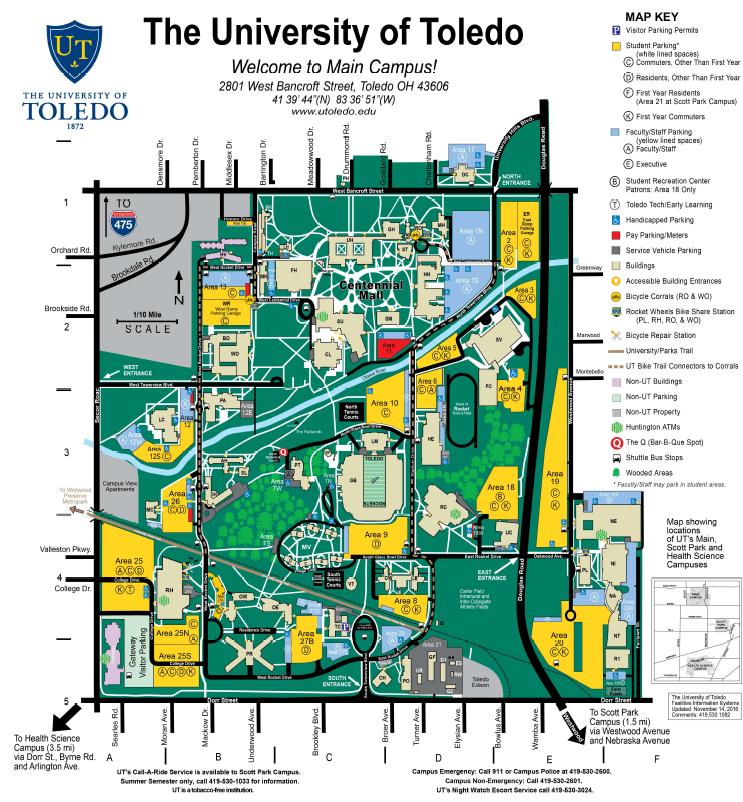 University Of Toledo Medical Campus Map Www Picsbud Com