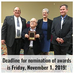 deadline for nomination of awards is November 1, 2019