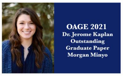 2021 Dr. Jerome Kaplan Outstanding GraduatePaper