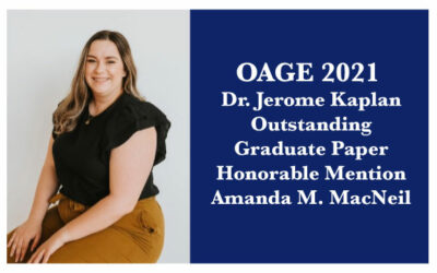 2021 Dr. Jerome Kaplan Outstanding Graduate Paper: Honorable Mention