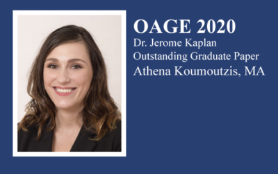 2020 Dr. Jerome Kaplan Outstanding Graduate Paper